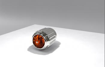 C4D模型 材质小练习 发动机 电机