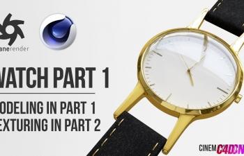 C4DOctane渲染器手表建模材质渲染C4D教程