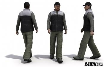 C4D虚拟场景人物运动模型插件 People In Motion v2
