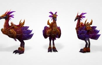 游戲模型火鳥坐騎C4D模型
