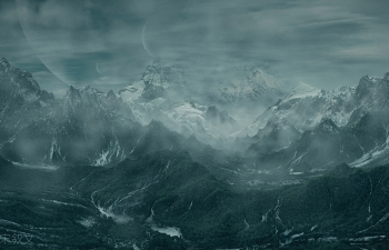 C4D+worldmachine制作电影大型场景《魔兽山脉》