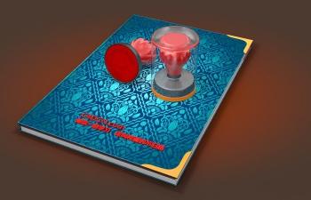 C4D书本印章模型工程