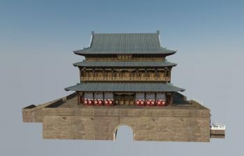 西安古城楼模型