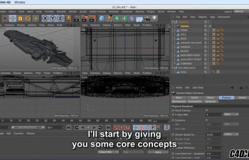 C4D教程 R19特效新功能 Lynda - Cinema 4D R19 Essentials VFX