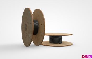 C4D模型 30 电缆 电线卷筒模型 Cable-Roll
