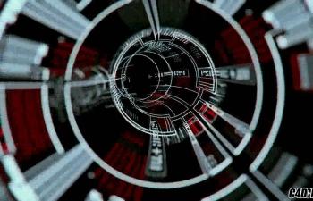 C4D精品工程104 穿梭文字信息组成的管道 signal barrel
