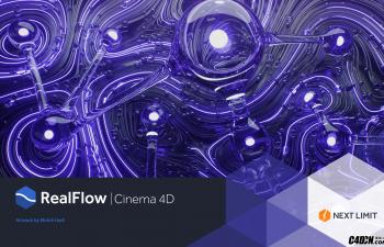 C4D插件 Realflow 2.0 流体模拟插件汉化版 NextLimit RealFlow C4D 2.0.0.0037 Win...