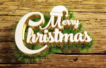 C4D教程 草坪上的圣诞节快乐字体设计海报教程