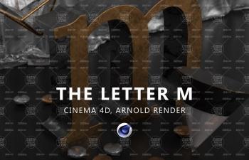 Arnold Render阿諾德渲染器創建字母M文字設計C4D教程