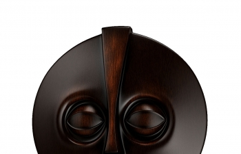 C4D模型 圆盘木纹卡通人物面部雕塑模型