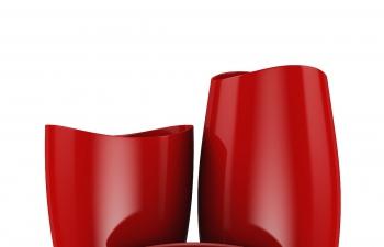 C4D模型 红色塑料器皿模型