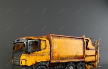 C4D城市环卫垃圾车模型 Garbage truck