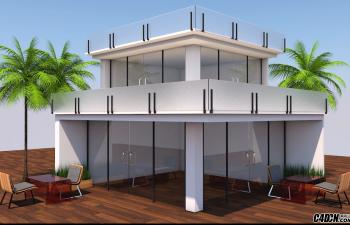 CINEMA 4D教程—— 现代房屋建模艺术与渲染