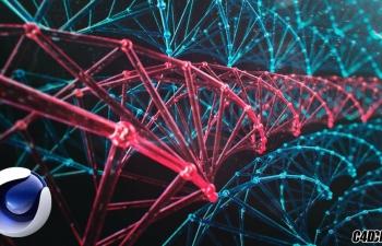 C4D DNA原子阵列排列模型教程(含工程)