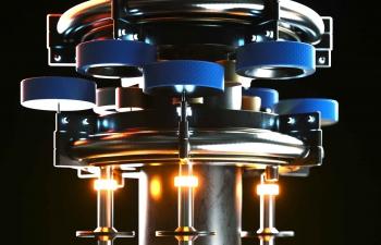 Octane渲染器旋转机器金属组合C4D模型