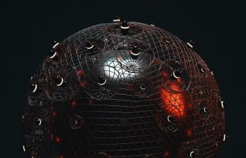 C4D精品工程 No.474 金属球体网格笼子