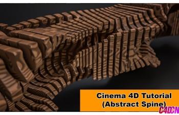 C4D教程 利用矢量化样条工具配合xpresso节点制作抽象的脊椎教程 Abstract Spine (Cinema 4D Tutorial)
