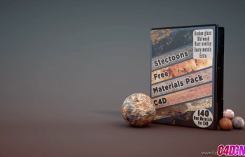 C4D材质预设–生锈的金属旧木头碎玻璃Materials Pack For C4D – Rusty Metal, Old Wood, Broken Glass