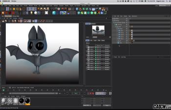 CINEMA 4D动物建模教程——制作一个蝙蝠模型