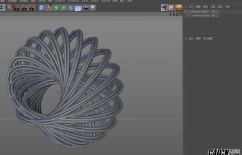 C4D插件 制作复杂的几何图形小工具汉化版 NeoKnot