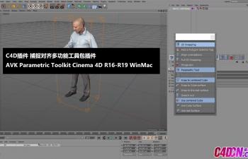 C4D插件 捕捉对齐多功能工具包插件 AVK Parametric Toolkit Cinema 4D R16-R19 WinMac