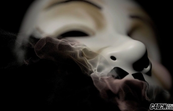 C4D粒子分裂制作鬼脸面具消失特效含面具模型