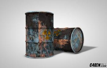C4D模型:被污染的核燃料桶模型 Dripping Goo Barrel