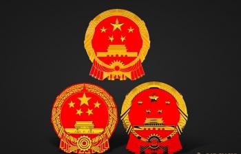 国徽模型3个