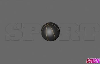 足球篮球合成体育片头C4D教程