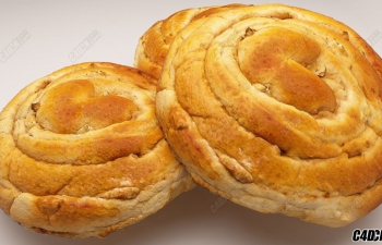 C4D R18 Vray3.4渲染器 面包食品模型