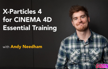 C4D教程 X-Particles 4粒子插件基础入门训练教程  Lynda - X-Particles 4 for Cinema 4D Essential Training