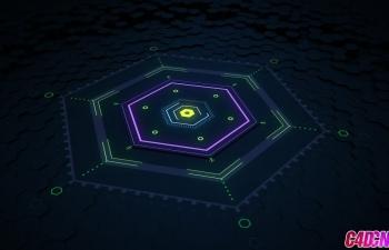 C4D+AE栏目包装教程 六边形MG运动图形变换动画
