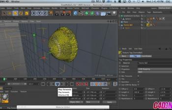 GSG260.在Cinema 4D中捕捉慢动作动态网球C4D教程