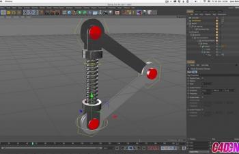 机械手臂弹簧联动装置绑定C4D教程(含xpresso)
