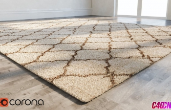 Corona渲染器绒毛地毯建模渲染C4D教程 Corona Render 4 - Cinema 4D - Creating an Carpeting