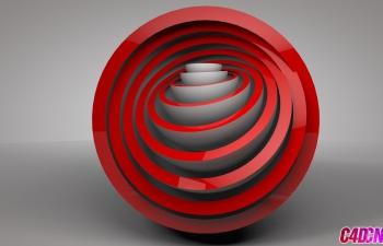 C4D运动图形步幅效果器克隆制作层层相扣的模型C4D教程