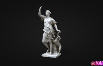 C4D模型 人物雕塑卢浮宫女性雕塑模型