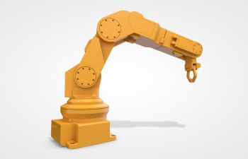 C4D机械手臂模型 可调控 含动画