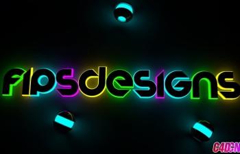 C4D辉光文字荧光字C4D教程 Glow Text Cinema 4D Tutorial