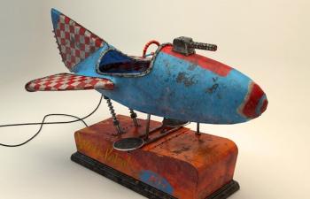 电动小飞机玩具C4D模型