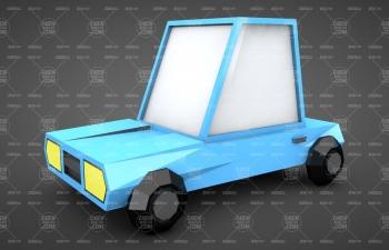 Low Poly低面模小汽车建模C4D教程