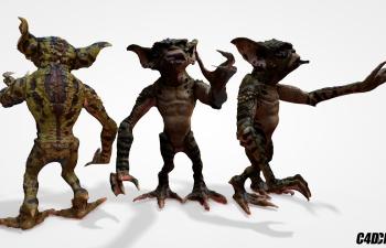 C4D绿色怪物模型
