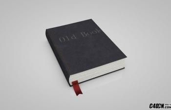 C4D旧书本模型 Old Book