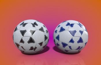 足球两色款模型