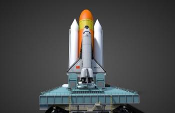 中国航天发射架高精度模型