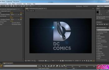 C4D教程 DC漫画公司片头演绎动画AE合成教程