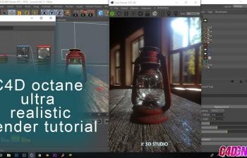 Octane渲染器煤油灯材质渲染C4D教程