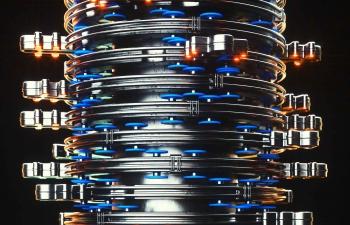 多层金属机器盘C4D模型
